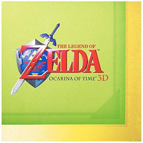 Party Destination Mens The Legend of Zelda Lunch Napkins Black Medium