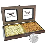 Chocholik Premium Gifts - Amazing Dry Fruit Combination With 5gm Pure Silver Coin - Gifts For Diwali