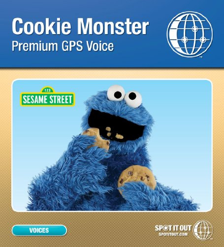 Sesame Street Cookie Monster GPS Voice for TomTom 