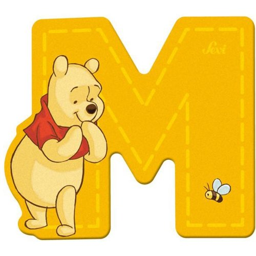 Sevi 82771 Klebebuchstabe M Winnie the Pooh