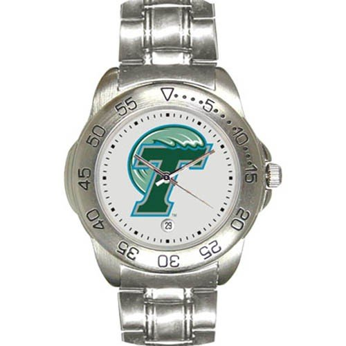 Tulane Green Wave Men&#8217;s Gameday Sport Watch w/Stainless Steel Band