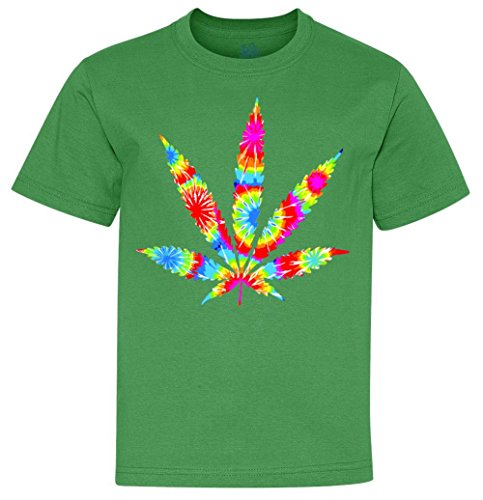 Youth T-Shirt: Tie Dyed Weed Symbol