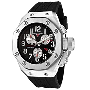 Mens 10541-01 Trimix Diver Collection Chronograph Black Rubber Watch
