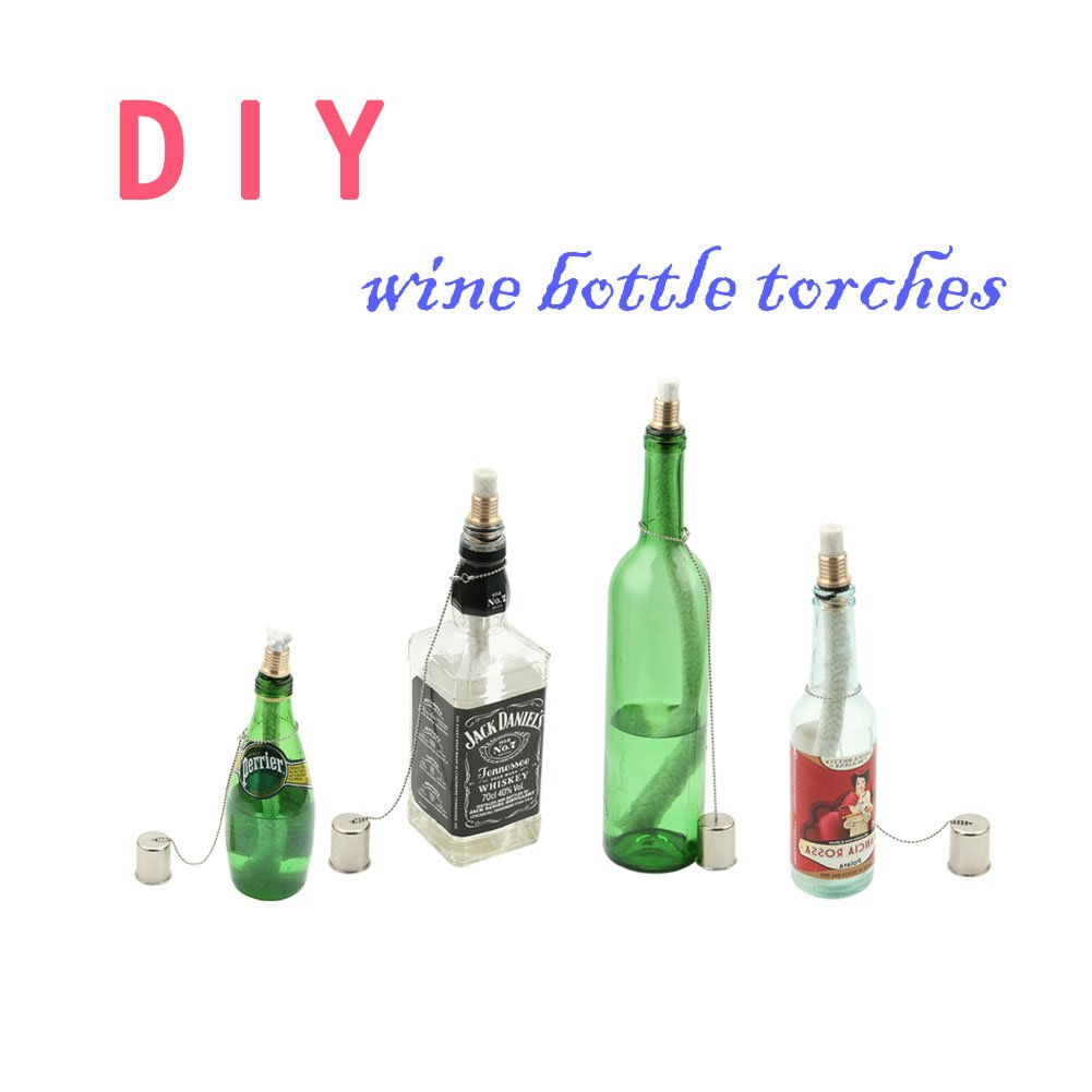 Tiki Torch Kit ,Torch Wicks and Brass Wick Mount , Table Top Torch Lantern Kit