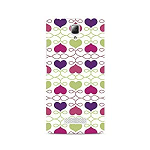 Motivatebox- Heart Pattern Premium Printed Case For Lenovo A2010 -Matte Polycarbonate 3D Hard case Mobile Cell Phone Protective BACK CASE COVER. Hard Shockproof Scratch-