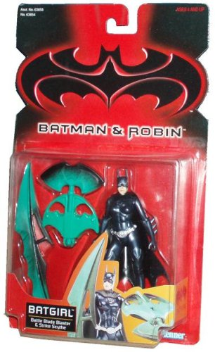 Batman and Robin 1997 Series 5 Inch Tall Action Figure : Batgirl with Battle Blade Blaster and Strike Scythe