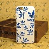 iPhone6(4.7)ケース 【adidas】(アディダス)カラー ハードケース 海外限定品(ホワイト&ブルー)