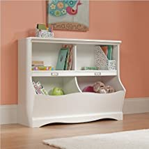 Sauder Pogo Bookcase/Footboard Soft White Finish