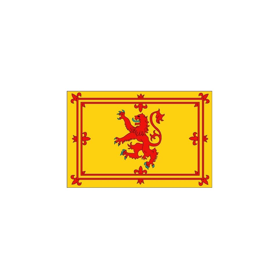 10 Royal Standard Scotland flag.Printed engineer grade reflective vinyl decal sticker for any smooth surface such as windows bumpers laptops or any smooth surface.