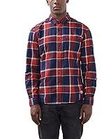 edc by ESPRIT Camisa Hombre (Rojo)
