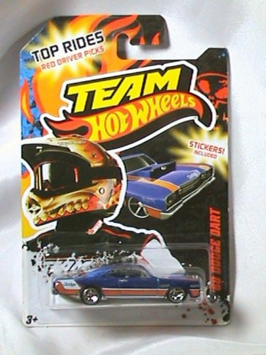 Team Hot Wheels '68 Dodge Dart Top Rides With Stickers 1:64