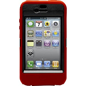 OtterBox Defender Case for iPhone 4 (Red/Black, Fits AT&T iPhone)