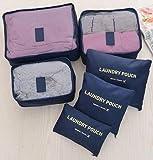 House of Quirk 6pcs/1set Travel Storage Bag Storage Clothes Bag Luggage Case Bag Suitcase Underwear Organizer Make Up Organizer Bag 6PCS Summer Style Travel Storage Bag