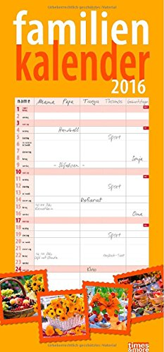 times&more Blumen Familienplaner 2016, Buch