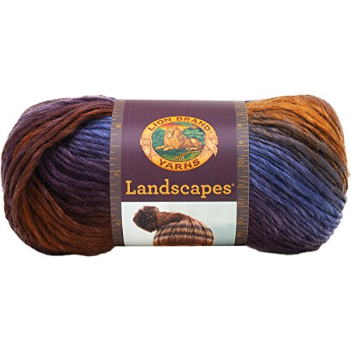 Lion Brand Yarn  545-202 Landscapes Yarn, Mountain Range