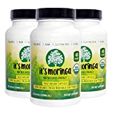 Organic It's Moringa Nutritious Energy, 360 Vegetarian Capsules, 1800-mg Daily, 120 Day Supply, USDA Certified, All Natural Appetite Suppressant