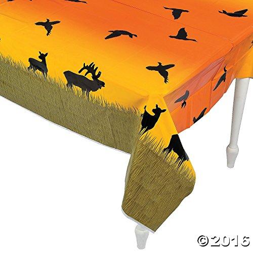 "Deer Quail Elk Hunt Hunting Table Cover - 54""W x 108""L"