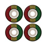 Spitfire Classic Rasta Fade 52mm White Skateboard Wheels (Set Of 4) by Spitfire