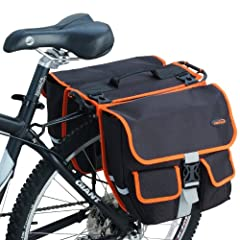 Ibera Panniers/Messenger Bag Combo is perfect for commuting to work or school and for everyday off-bike use.  The panniers double as a messenger bag that can be simply and quickly detached with a hook and strap (shoulder strap is included for off-roa...