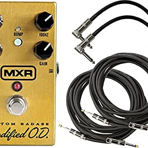 MXR M77 Badass Overdrive Stomp Box w/4 Free Cables