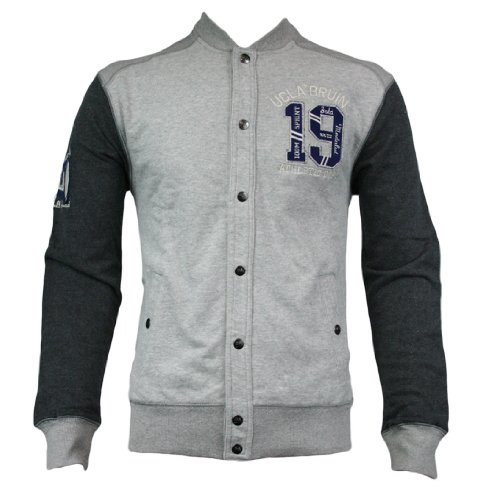UCLA Walsh Mens Sweat Jacket SS12 Grey Marl XXL