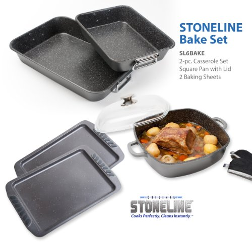 Stoneline PFOA Free Nonstick Bakeware Set STONELINE B00GYGFU4K
