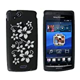 BRAND NEW BLACK STYLISH FLORAL SILICONE CASE COVER SKIN FOR THE SONY ERICSSON XPERIA X12 X 12 ARC AND WITH FREE DELIVERY UK MAINLANDby Yousave