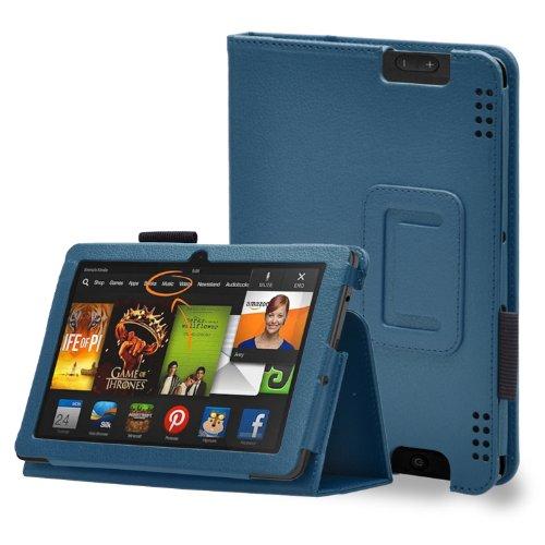 kaufen Bingsale PU Lender Hülle Lederhülle Case Schutzhülle Ledertasche im Bookstyle für Amazon Kindle Fire HDX 7'' Tasche+ one zubehör stylus in Schwarz (Kindle Fire HDX 7