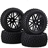 Front Rear Wheel Rim Rubber Tyre Tires 66016-66036 For RC 1:10 Off-Road Pack OF 4
