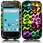 Rainbow Leopard Hard Case Cover Faceplate Protector for Huawei Ascend Y H866 / M866 / H866C Straight Talk with Free Gift Reliable Accessory Pen
