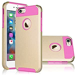 iPhone 6 Plus Case (5.5 inch),Keetech[Slim Hybrid Dual Layer] Heavy Duty Case Cover for Apple iPhone 6 Plus and iPhone 6s Plus 5.5 inch (Aqua Gold-Magenta)