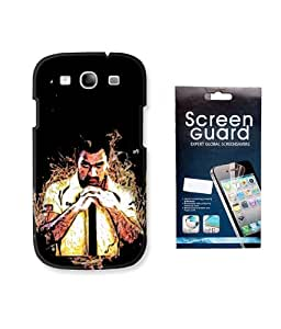 KolorEdge IPL Back case + Screen Protector for Samsung Galaxy S3 - Multicolor