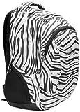 15.4 inch White Tiger Organizer Laptop Computer Backpack School Bag w/Headphone port /Air Mesh Padded Panel