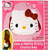 "Sanrio Hello Kitty Groovy Bag, Make Your Own 11"" x 18"" x 9.5"" and Hello Kitty Wallet"