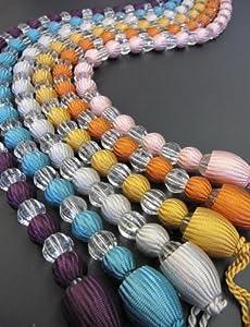 ein paar mit lila klaren perlen gardinen raffhalter. Black Bedroom Furniture Sets. Home Design Ideas