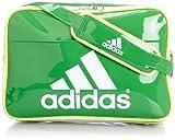 [アディダス] adidas エナメル ショルダーL Z7679 F92317 (リアルグリーンS11/ホワイト/グロー S14)