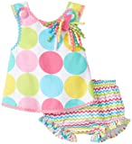 Mud Pie Baby-Girls Infant IM One Pinnafore and Bloomer Set