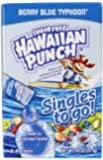 Hawaiian Punch Singles To Go Drink Mix, Berry Blue Typhoon, 8-Count (Pack of 12)