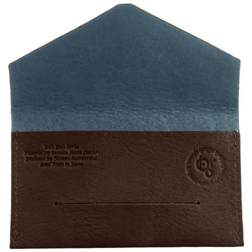 [オロ] Originale Radicale Opinione NAME CARD CASE (B) PELA PELAシリーズ日本製1枚革名刺入れB型 国内タンナー協力オリジナル牛革極薄超軽量13g GIFTパッケージ梱包 ORMW1304 BR (ダークブラウン/サックス)