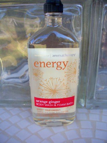 Bath Body Works Aromatherapy Energy Orange Ginger 10 oz Body Wash Foam Bath