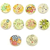 Colorful Buttons for Scrapbooking and Jewelry Design 25 Buttons Per Package with Gift Bag