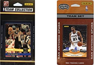 NBA San Antonio Spurs 2 Different Licensed Trading Card Team Sets by C&I Collectables