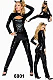 キャットウーマンコスチューム ハロウィンCatCostumes  ブラック コスプレ衣装 レディースファッション フリーサイズ(フリーサイズ)