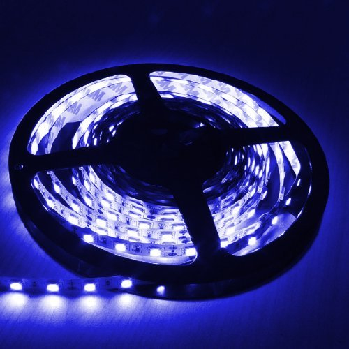 E-Goal 16.4Ft (5M) Blue Flexible Led Strip Lights - 5050 Smd 300Leds/Pc - Non-Waterproof Ip-44