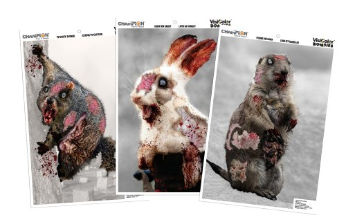Champion Visicolor Zombie Cute Animal Target (Pack of 6, 12x18) (Archery Targets Animal compare prices)