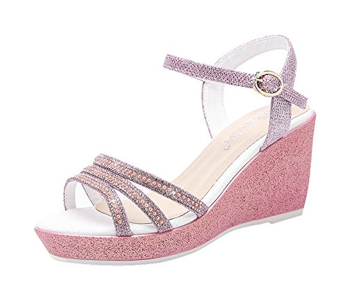fq-real-womens-cute-casual-straps-rhinestones-wedge-heel-ankle-strap-sandals-5-ukpink