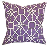 The Pillow Collection Birao Geometric Pillow, Purple