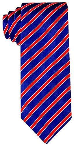 Neckties By Scott Allan - Navy Blue & Red Striped Men's Tie (Scott Allan Red Ties compare prices)