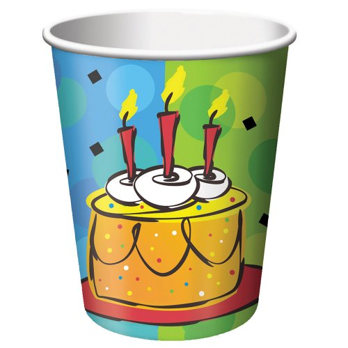 Cake Celebration 9 oz. Paper Cups