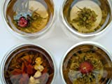 Heavenly Tea Leaves Flowering Tea Gift Set - Assortment of 12 Flowering Tea Blossoms